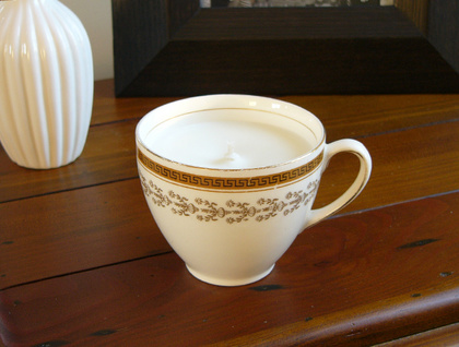 ***SALE*** was $30 Vanilla scented soy teacup candle