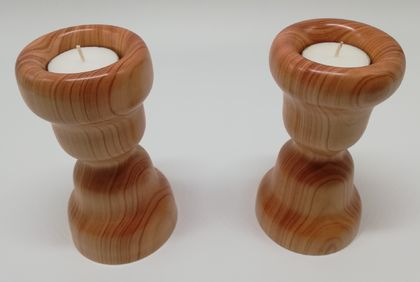 Pair of Tea Light Candle Stands