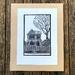 Original linocut print - Worcester St.