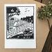 Original linocut print - The farmer