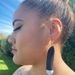 Huia earrings - Long, white