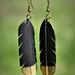 Huia earrings - Short Gold