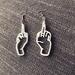 Middle finger earrings